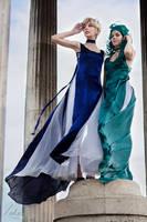 Princesses Uranus and Neptune by Erendrym