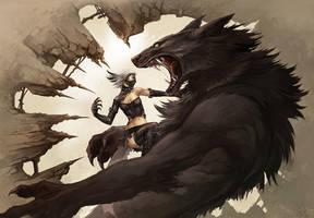 vampire vs werewolf by sandara