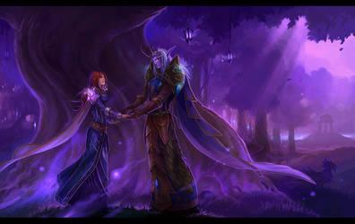 lovers in darnassus by sandara