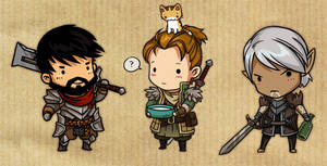 Dragon Age 2 guys by sandara