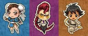 Street Fighter chibis by sandara