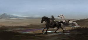 running horses by sandara