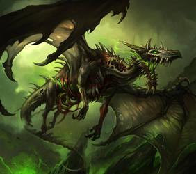 Zombie Dragon by sandara