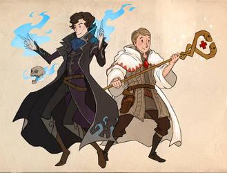 Sherlock + John by sandara