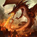 Fire Breathing Dragon by sandara