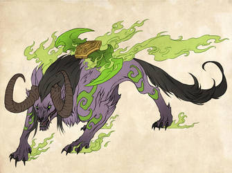 Illidan+Okami by sandara