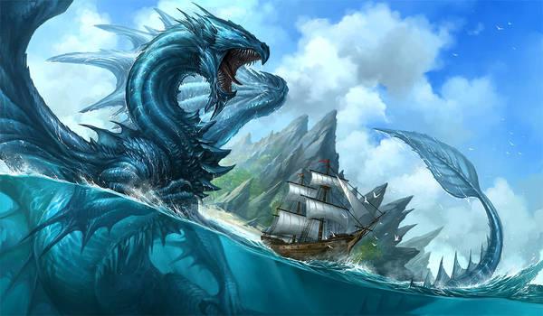 Blue Dragon by sandara