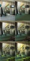 Abandoned Station - steps by sandara