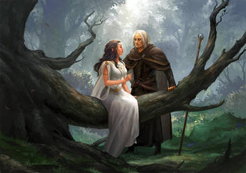 Raistlin and Crysania by sandara