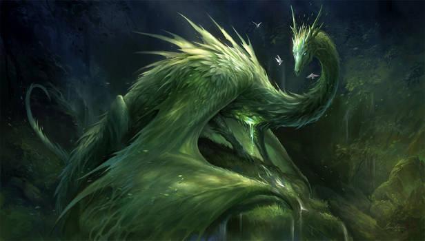 Green Crystal Dragon by sandara