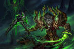 World of Warcraft - Worgen Warlock by sandara