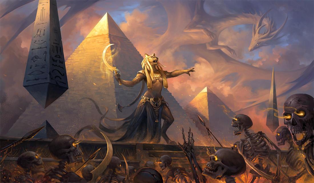 Egypt Warrior Illustration Anubis Pyramid Fantasy Art: Sekhmet By Sandara On DeviantArt