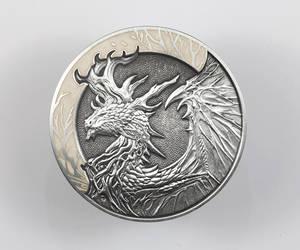 Forest Dragon coin - Bone variant by sandara