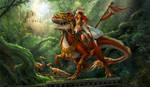 Dino and rider by sandara