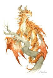 watercolor dragon 3 by sandara