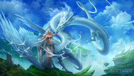 White Sky Dragon by sandara