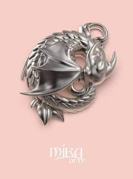 Sleeping dragon pendant by sandara