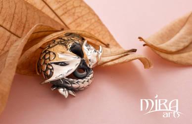 Sleeping Dragon pendant - Live on kickstarter now! by sandara