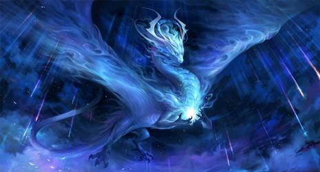 meteor dragon - Cosmos by sandara
