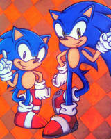 Sonic 20th Anniversary by Sky-The-Echidna