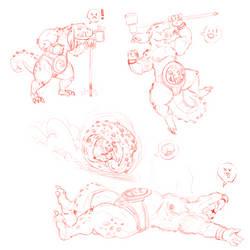 Byru Sketches [Zeldesque] by TheDemonskunk