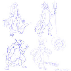 Water Race Concepts [1/2][Zeldesque] by TheDemonskunk