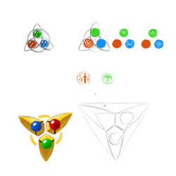 Trinity Emblem Concepts [Zeldesque] by TheDemonskunk