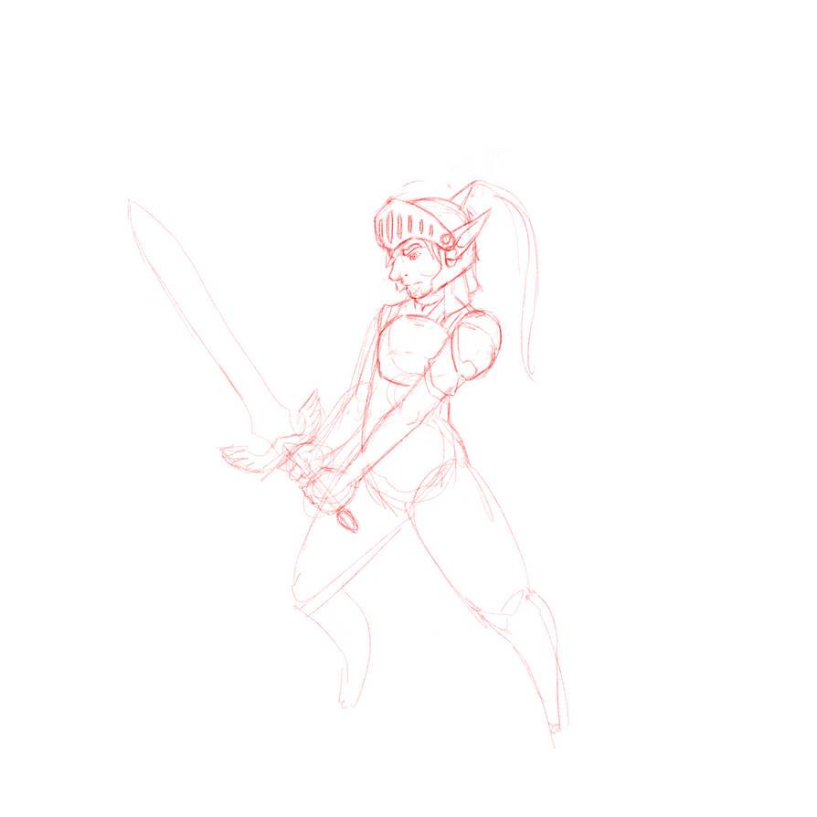 Hero sketch by TheDemonskunk