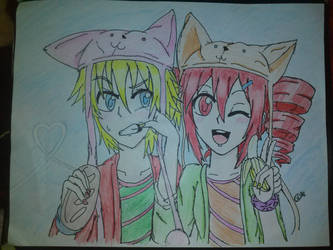 Teto and Len (Request) by colourfulart82