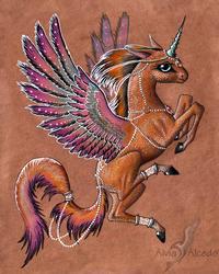 Winged one by AlviaAlcedo