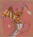 Amber dragon by AlviaAlcedo