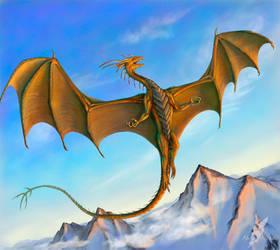 Mountain copper dragon by AlviaAlcedo