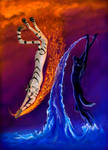Water and fire by AlviaAlcedo