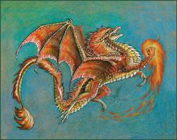 Fire dragon by AlviaAlcedo