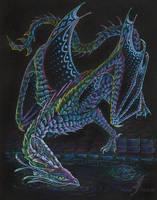 Night diamond dragon by AlviaAlcedo