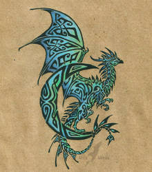 Lunar dragon tattoo by AlviaAlcedo