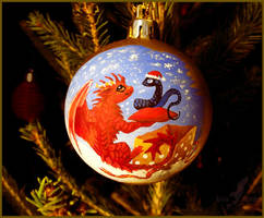 Dragon and snake - Christmas tree decoration by AlviaAlcedo