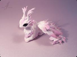 Pink moth dragon by AlviaAlcedo