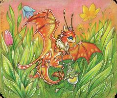 Firefly dragon by AlviaAlcedo
