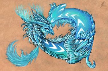 Cold fire dragon by AlviaAlcedo