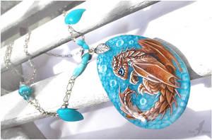Summer sea dragon - stone painting by AlviaAlcedo