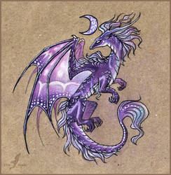 Dragon of a violet moon by AlviaAlcedo
