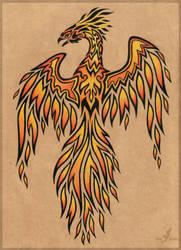 Flame phoenix - tattoo design by AlviaAlcedo
