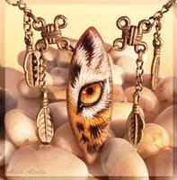 Golden tiger eye - stone painting by AlviaAlcedo