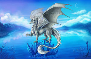 Silver dragon by AlviaAlcedo