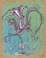 Amethyst dragon by AlviaAlcedo