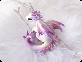 Little dragon of Winter Dawn by AlviaAlcedo