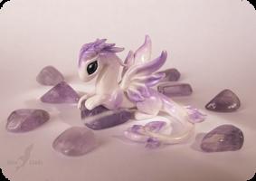 Little amethyst dragoness by AlviaAlcedo