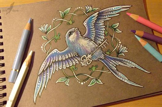 Bluebird of happiness by AlviaAlcedo