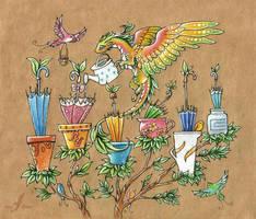 Umbrella seedlings by AlviaAlcedo